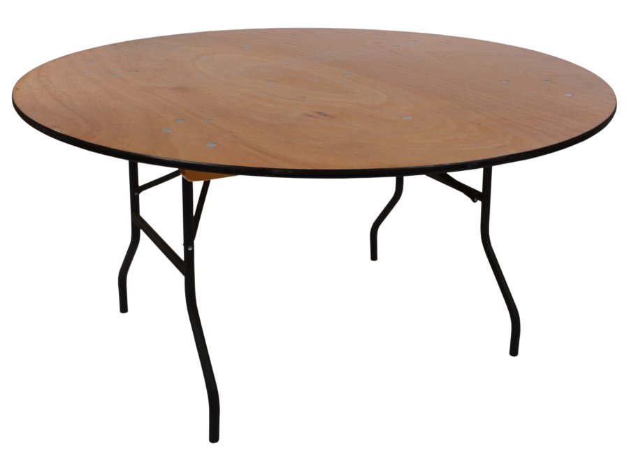 Rental Information For Our Round Wood Banquet Tables