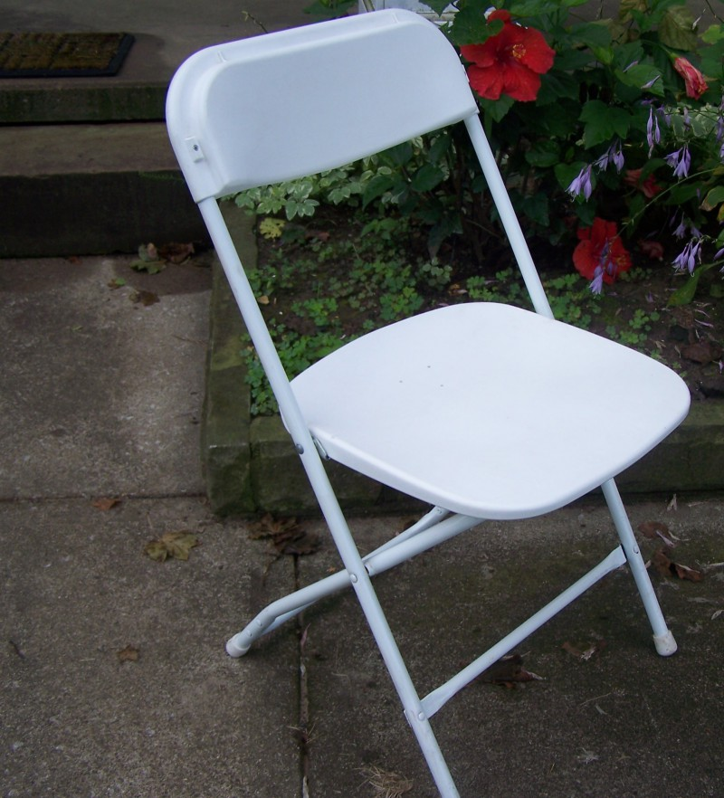 White Molded Poly Chair Rental, OH