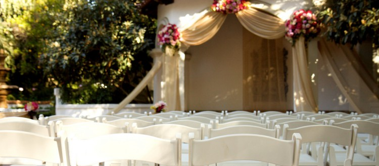 White Padded Resin Chair Wedding