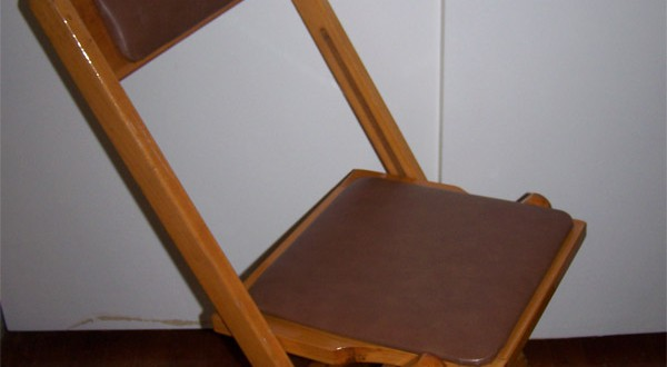Brown Wooden Padded Chair Rental